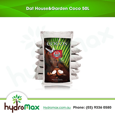 H&G Coco Natural Peat 50L Hydroponics Growing Medium