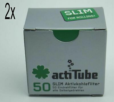 actiTube (Tune) Aktivkohle Filter Slim 7mm 2x50 Stück