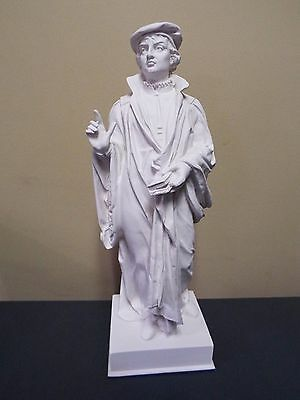 Martin Luther - White Bonded Marble Bust (Heavy)  16 1/4 inches tall