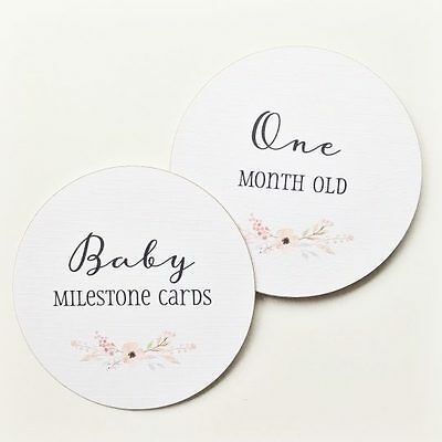Baby Milestone Cards - Floral