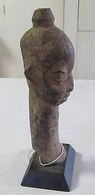 RARE PRIMITIVE AFRICAN TRIBAL ART WOOD CARVED HEAD FACE SCULPTURE Grand Bassam?
