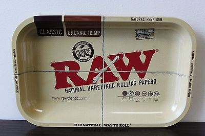 NEWLY REVISED! RAW-Papers Brand Vintage Style METAL~Small Rolling Tray 7x11
