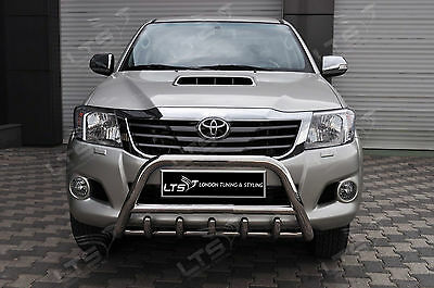 Toyota Hilux Vigo Axle Nudge A-Bar, Stainless Steel Bull Bar 2012-2014