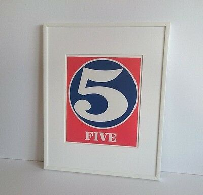 Robert Indiana - ORIGINAL VINTAGE ART - 1991 Numbers #5 Five Print Cinco Fünf 5