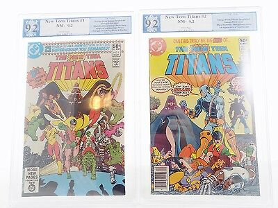 NEW NM 9.2 PGX Cert TEEN TITANS 1 & 2  DC 1980 1st App of Deathstroke Comic