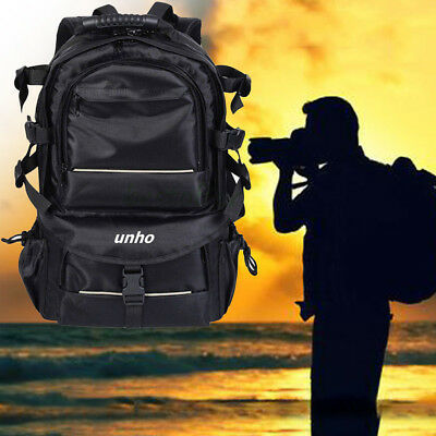 Multifunctional Large Space Camera Backpack Bag For Sony Canon Nikon DSLR SLR US