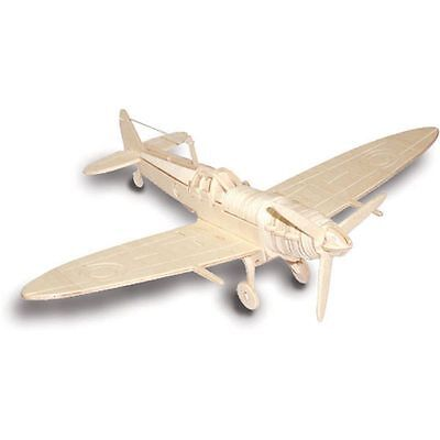 SPITFIRE Woodcraft Construction Kit- Airplane 3D Wooden Model Puzzle KIDS ADULTS