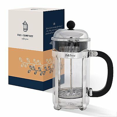 D&S Group French Press Coffee & Tea Maker with Additional Top Filter (34oz)...