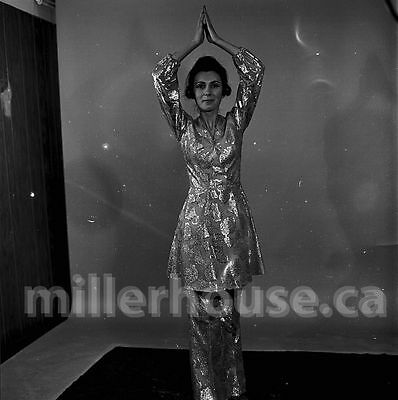 "c. 1970 ""Itie"" Original Gauvreau B&W PIN-UP 2.25"" Film Negative (NON-NUDE) #5"