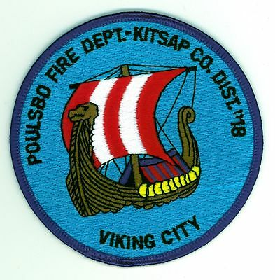 Kitsap County Fire Dist. #18 Poulsbo Fire Department Uniform Patch Washington WA