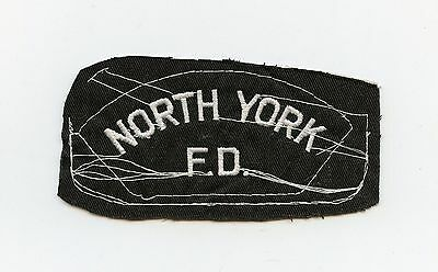 North York Fire Department, Ontario, Canada HTF Vintage Shoulder Patch Proof