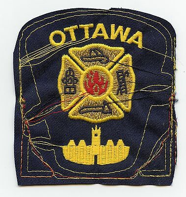 Ottawa Fire Department, Ontario, Canada RARE Vintage Shoulder Patch Proof #4