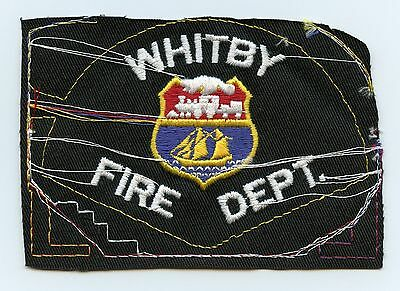 Whitby Fire Department, Ontario, Canada RARE Vintage Shoulder Patch Proof