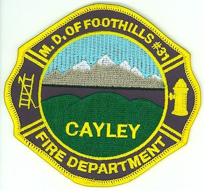 M.D. of Foothills #31 Cayley Fire Department Uniform Patch Alberta AB CFD