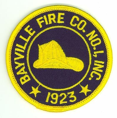 BFD Bayville Fire Company No. 1 Fire Department Uniform Patch New York NY