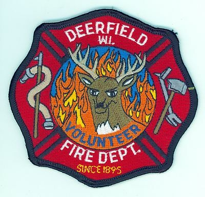 DVFD Deerfield Volunteer Fire Department Uniform Patch Wisconsin WI