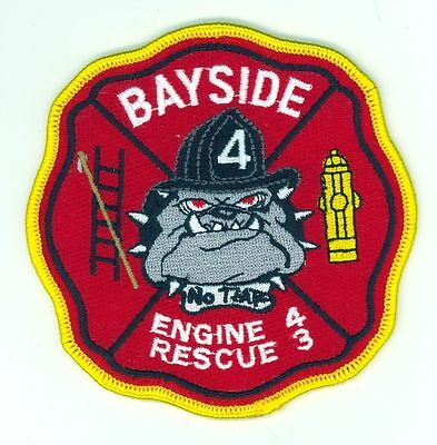 BFD Engine 4 Rescue 3 Bayside Fire Department Patch Missouri