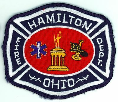 HFD Hamilton Fire Department Uniform Patch Ohio OH