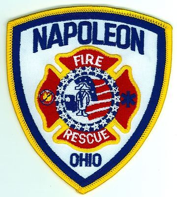 NFD Napoleon Fire Department Uniform Patch Ohio OH