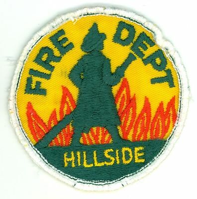Vintage HFD Hillside Fire Department Uniform Patch Illinois IL