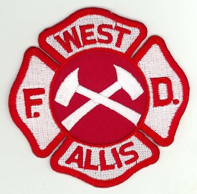 WAFD West Allis Fire Department Uniform Patch Wisconsin WI