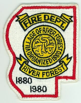 1880-1980 RFFD River Forest 100th Ann. Fire Department Uniform Patch Illinois IL