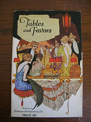 Vintage Tables and Favors Booklet by Dennison Manufac. Co. 1922