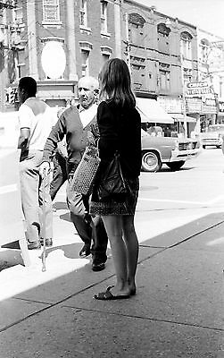 Mid-1960's Bloor/Bathurst Toronto Street Scene Original B&W 35mm Film Negative