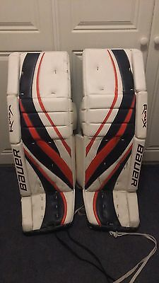Bauer RX10 Pro leg Pads, Blocker, Catcher Set, Reflex 10 Goalie Rails