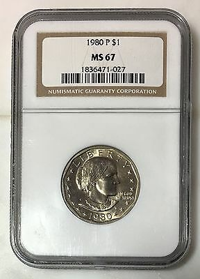 1980 Susan B Anthony Dollar NGC MS67 ***Rev Tye's Coin Stache*** #102789