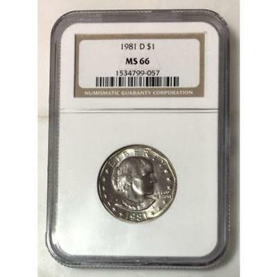 1981 D Susan B Anthony Dollar NGC MS66 ***Rev Tye's Coin Stache*** #905718