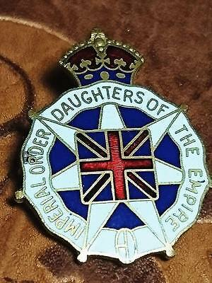 Vtg 1916 Imperial Order Daughter Empire Lapel Pin Wwi