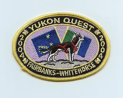 HTF 2004 Yukon Alaska Quest Dog Sled Race Patch Fairbanks, AK to Whitehorse, YT
