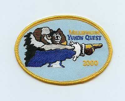 HTF 2000 Yukon Alaska Quest Dog Sled Race Patch Whitehorse, YT to Fairbanks, YT