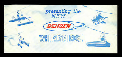 Original Late 1960's Bensen Whirlybirds Gyro-Copter Catalog/Brochure Gyrocopter