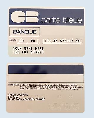 Vintage Carte Bleue Credit Card Replica Fully Customizable 1960's Bank Card