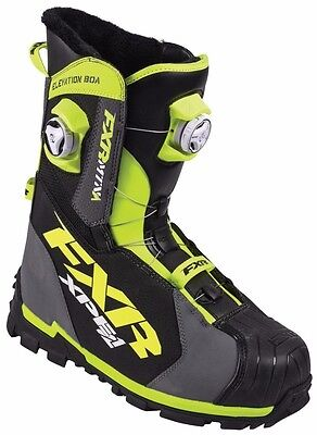 FXR Elevation Lite BOA Focus Boot Char/Hi-Vis S:9 Snowmobile Boots 16501.20709