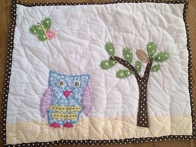 "Pottery Barn Kids Hayley Owl Nursery Pillow Sham/Cover 12x16"" Nature"