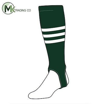 "TCK® Medium, 200B, 4"" - Dark Green–White - MLB® Baseball Stirrups"