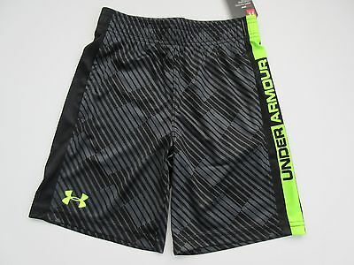 Under Armour Heat Gear Boys Youth Black Shorts Size 7 - NWT