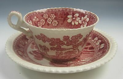 Spode China TOWER-PINK Cup and Saucer Set(s) VERY GOOD