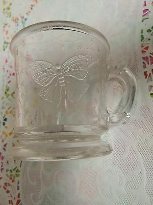 antique vintage butterfly glass cup/mug/ victorian / childs/ childrens