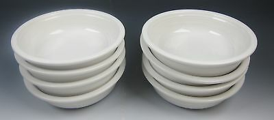 Lot of 8 Homer Laughlin FIESTA-WHITE Coupe Soup Bowls EXCELLENT