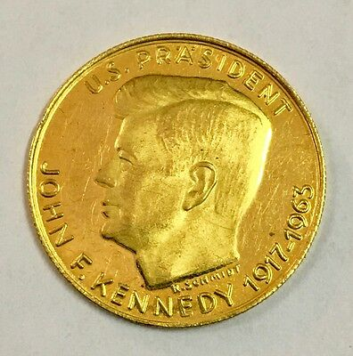 John F. Kennedy Tribute Medal (.900 Fine) .11 oz Gold Round