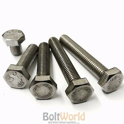M6 / 6mm A4 MARINE GRADE STAINLESS FULLY THREADED BOLT SCREW HEXAGON HEX SET 933