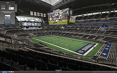 2 - 2017 Dallas Cowboys 1/2 Season Tickets -LL Section 329 Row 16