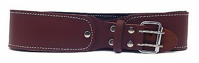 "2.5"" Natural Leather Foam Padded Belt 48"" Length Brown Color"