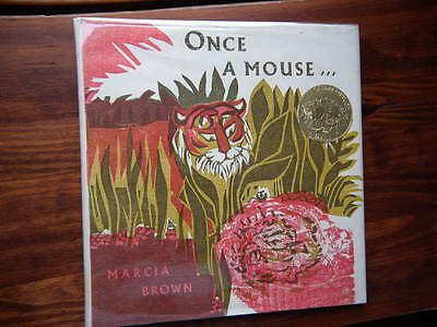 Caldecott Medal Winner Marcia Brown/once A Mouse/5Th Printing/signed/in Dj