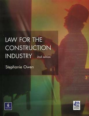 Law for the Construction Industry (Chartered Institute of Building)-ExLibrary