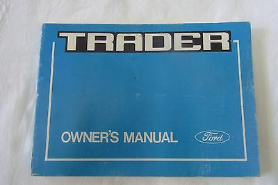 Ford Trader Owners Manual 1987